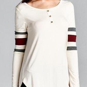 Women's Vanilla Bay Stone Tunic Shirt Stripes